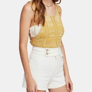(NWT) Free People | Bombshell Crop Knit Tank Top